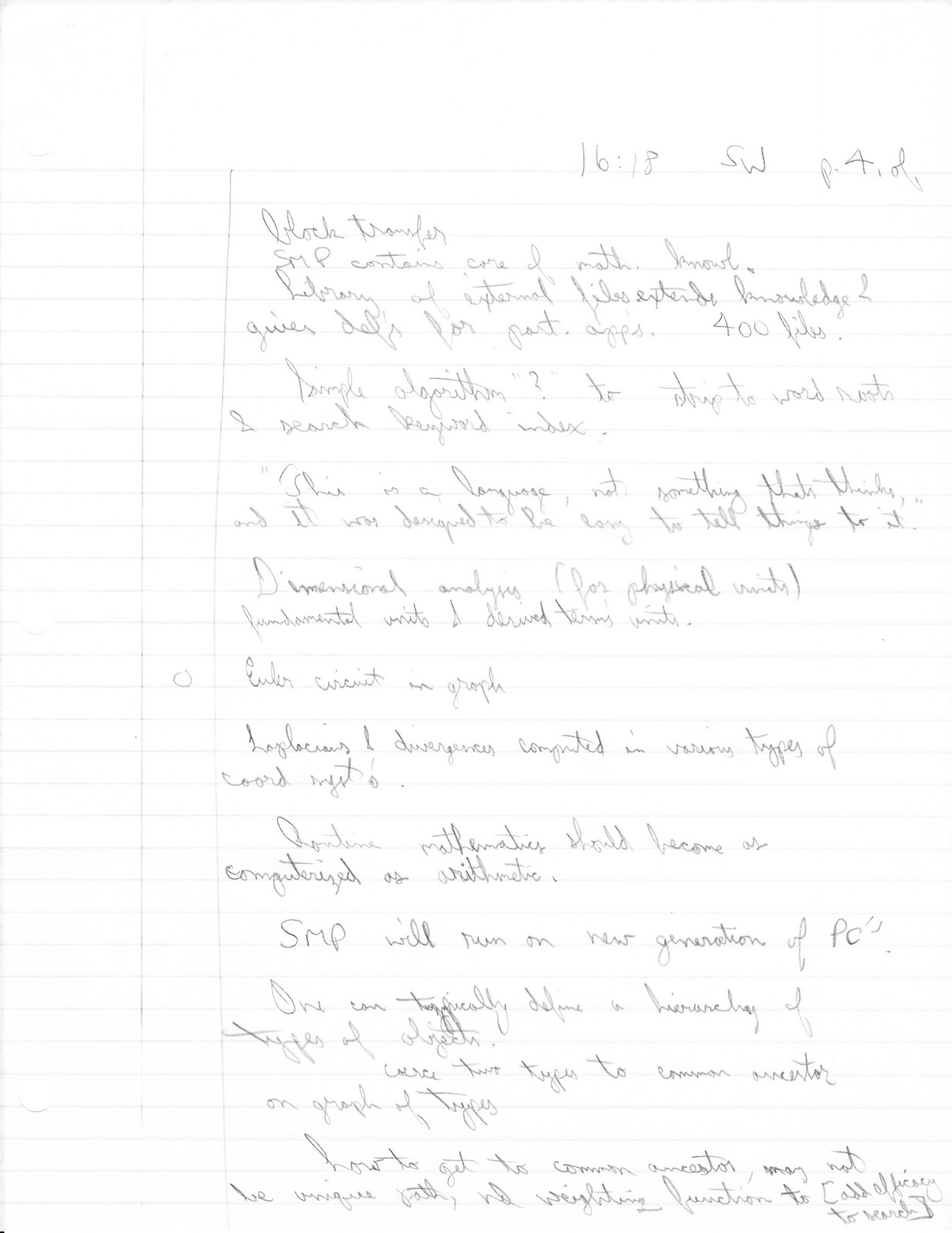 The Way of Mathematica: My 1985 Notes on Wolfram's Harvard