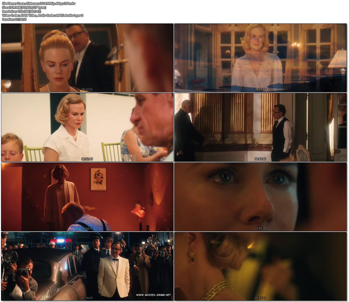 Grace of Monaco 2014 BRRip 480p x264 300MB Movie Screenshot