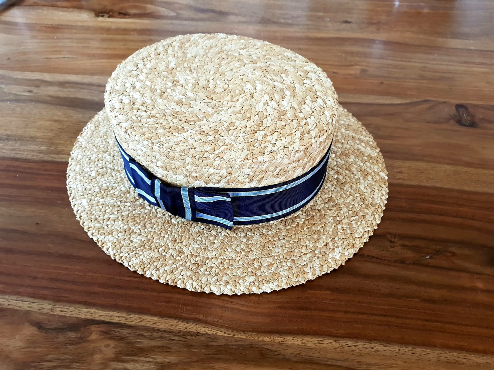 e4dc9e49d7839 Newly Arrived and Just in Time to for Spring Summer a Straw Boater Hat from  Gamble   Gun