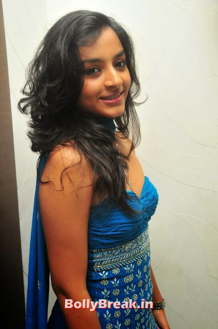 , Young Tamil Film Actress Alisha in Blue Dress