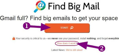 how to clean gmail inbox by find big mail app