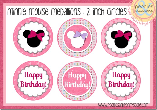 Minnie in Pink and Polka Dots: Free Printables for Cupcakes.