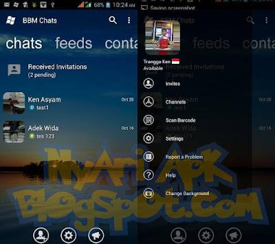 Download BBM Mod Transparan Versi 3.1.0.13 Apk Terbaru (Change Background)