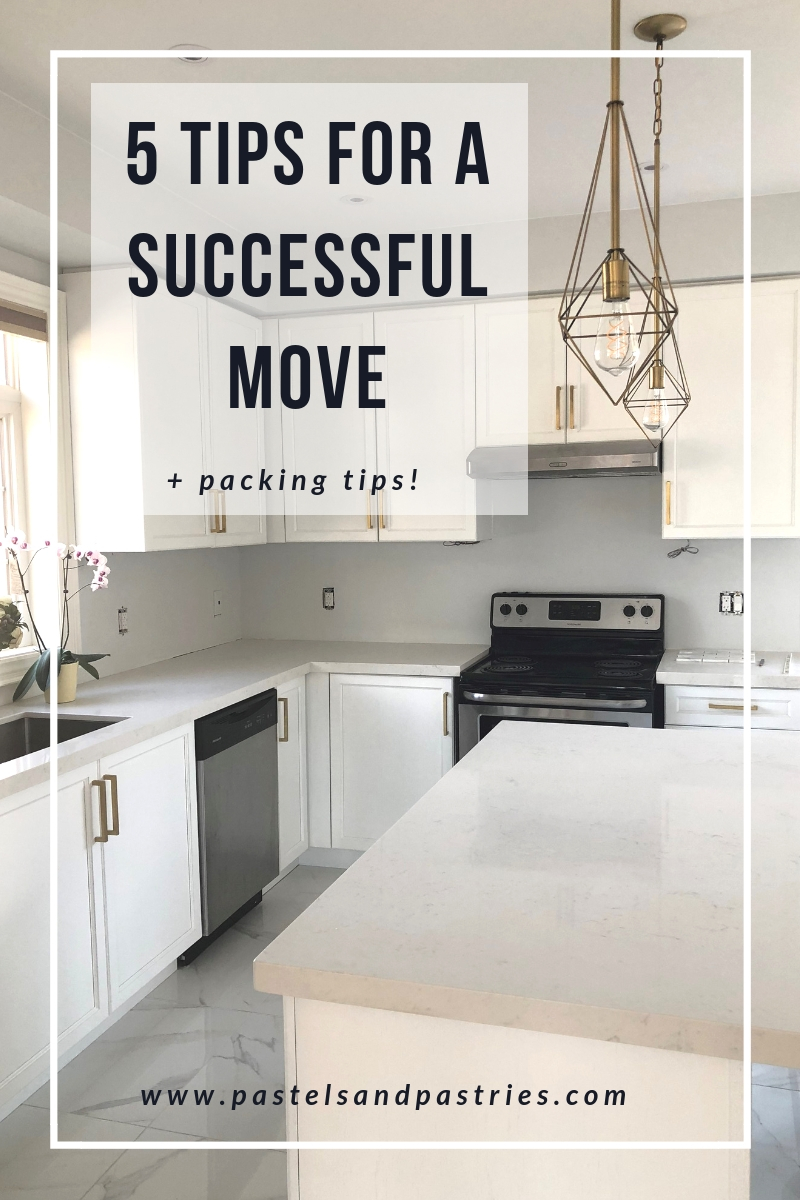 How to Plan a Home Move, Gold accents white kitchen, marble white kitchen, blogger home tour, pastels and pastries, gabpacifico home decor,