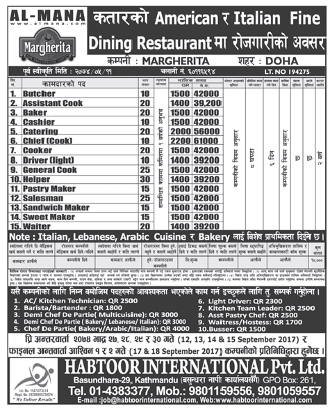 Jobs in Qatar for Nepali, Salary Rs 61,000
