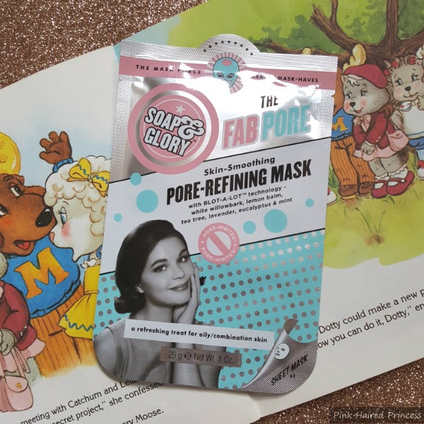 soap and glory pore sheet mask in packet