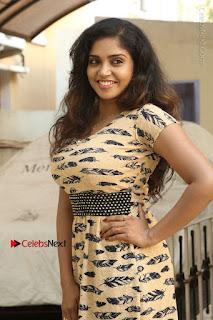 Telugu Actress Karunya Chowdary Stills in Short Dress at ATM Not Working Press Meet  0022.jpg