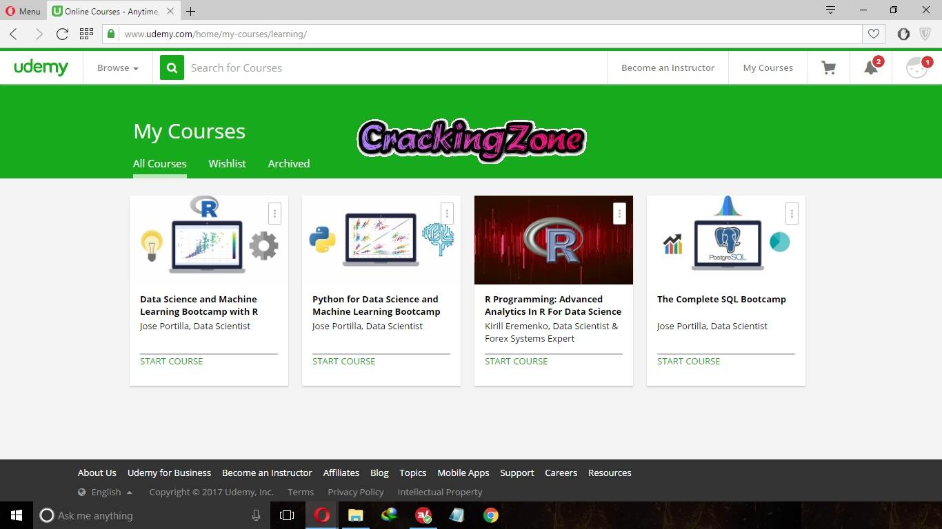 Udemy com Premium Account | Openly Shared | 2017 By CrackingZone