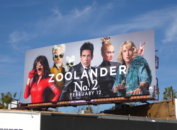 Zoolander No 2 movie billboard
