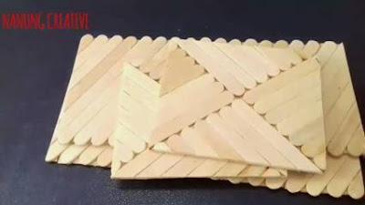 Cara Membuat Tempat Tisu dari Stik Es Krim