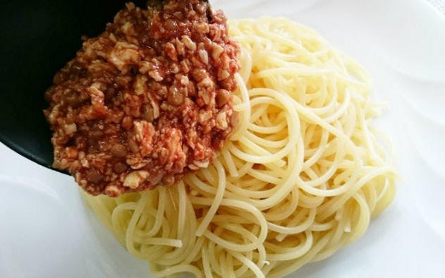 トマト風味の豆腐と納豆のパスタの作り方5