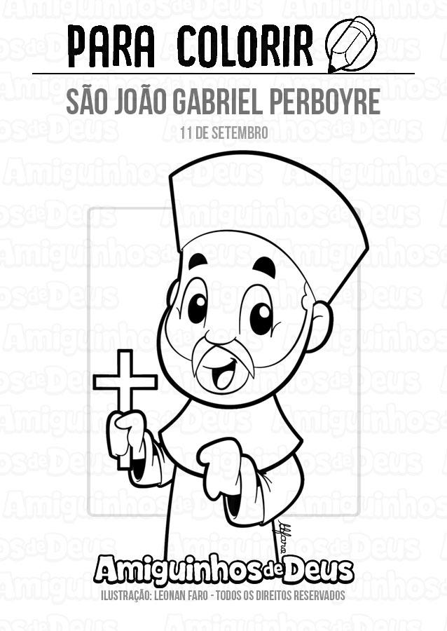 São João Gabriel Perboyre para colorir