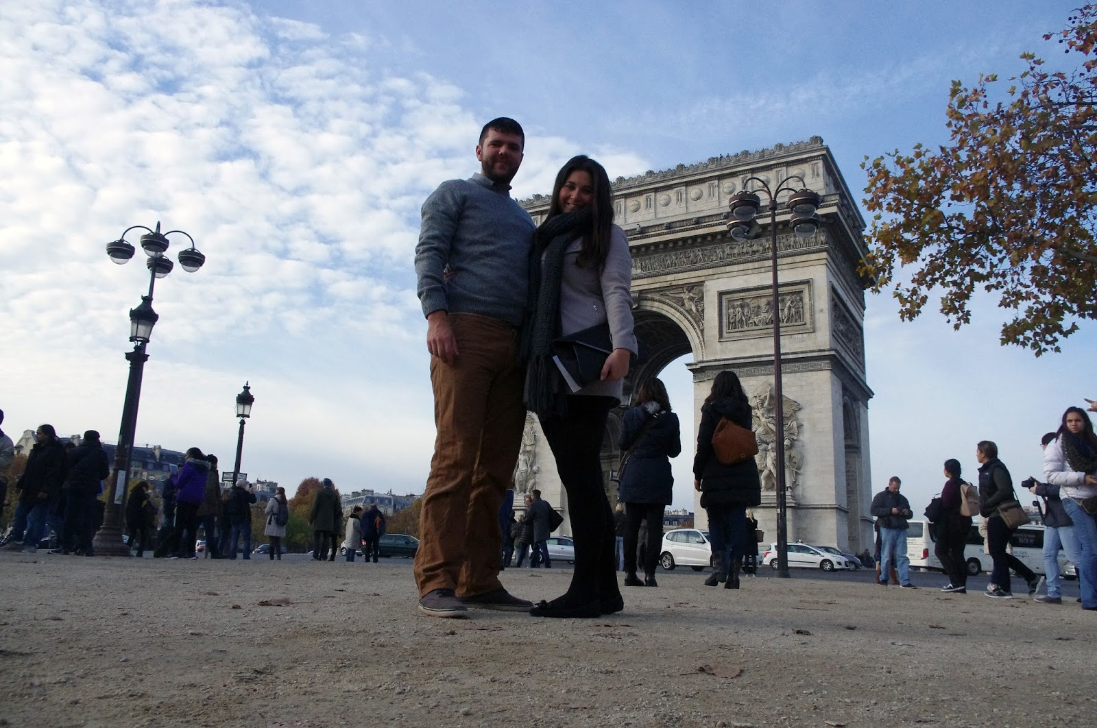 Couple at Arc De Triomphe Paris
