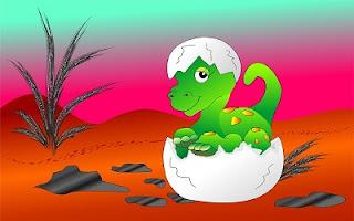 Disegno per bambini del dinosauro