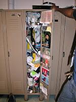 School Locker Mess