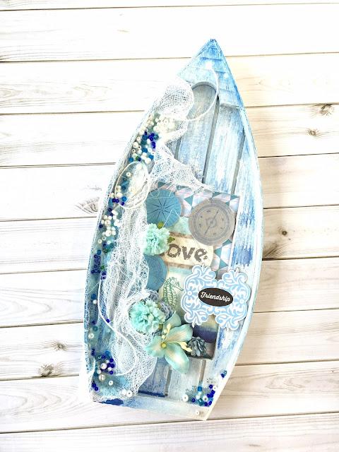 łódka dekoracja