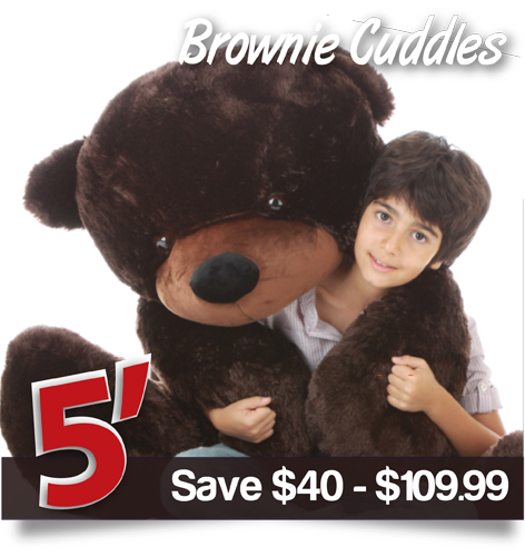 Brownie Cuddles from Giant Teddy
