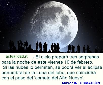 El viernes que jamás olvidará: Luna del lobo con el eclipse lunar penumbral, viene acompañada por e