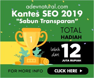 Kontes SEO Blog Sabun Transparan ADEV Natural 2019