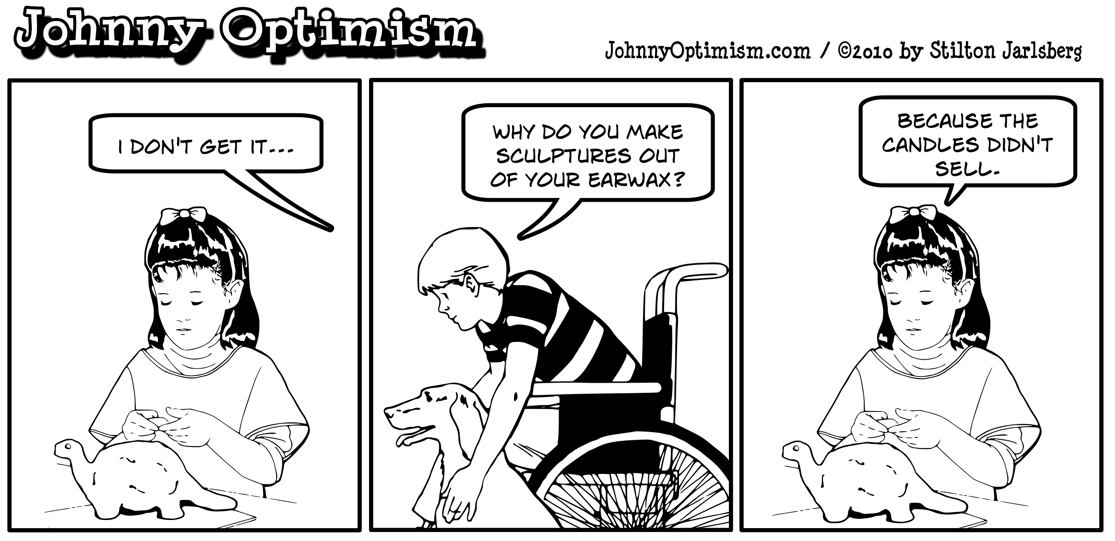Johnny optimism, johnnyoptimism, ear wax, medical humor