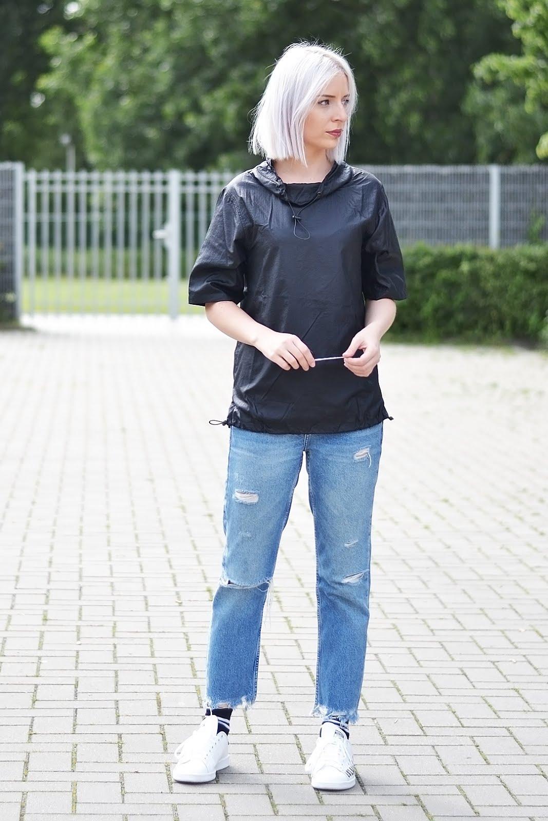 Polyamide top, weekday, mango ripped jeans, stan smith sneakers, zalando blogger awards, street style, fashion blogger, beglium