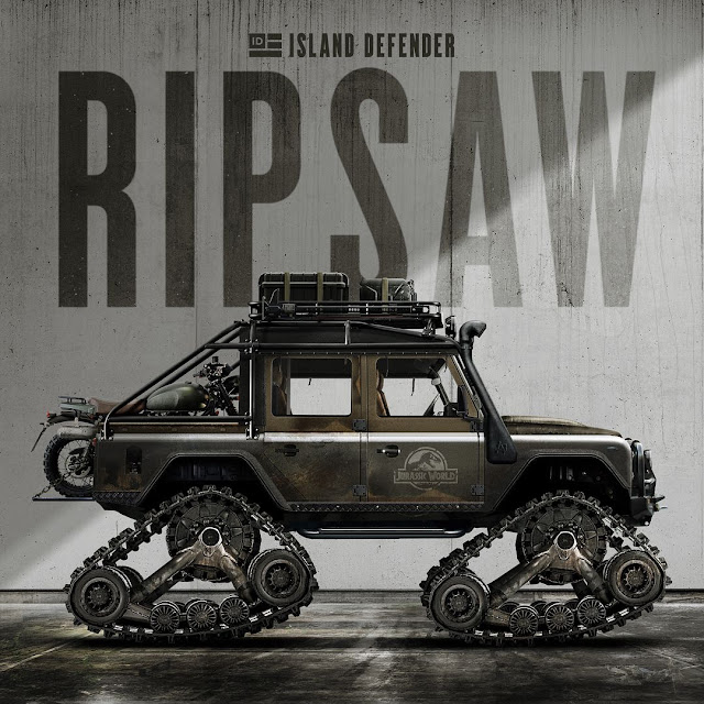 Island Defender - Jurassic World Ripsaw Land Rover Defender