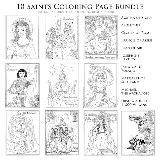 The Saints Bundle Includes St Joan Of Arc And Apollonia To Whom Anita Has Had A Devotion Ever Since She Got Her Front Tooth Knocked Clean Out Last