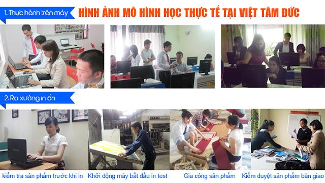 Mô hình học thực tế khóa học photoshop tại Hà Nội