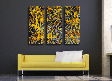abstract, wall art, canvas art, contemporary, yellow, grey, white, black, canvas print, modern, art,