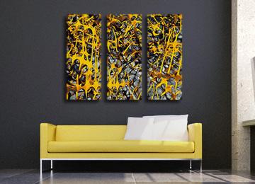 abstract, wall art, canvas art, contemporary, yellow, grey, white, black, canvas print, modern, art,