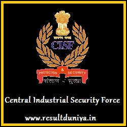CISF Constable Fire Recruitment 2015 Result