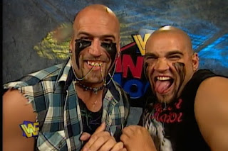 WWE / WWF In Your House 17: Ground Zero - The Headbangers won the WWF tag team titles