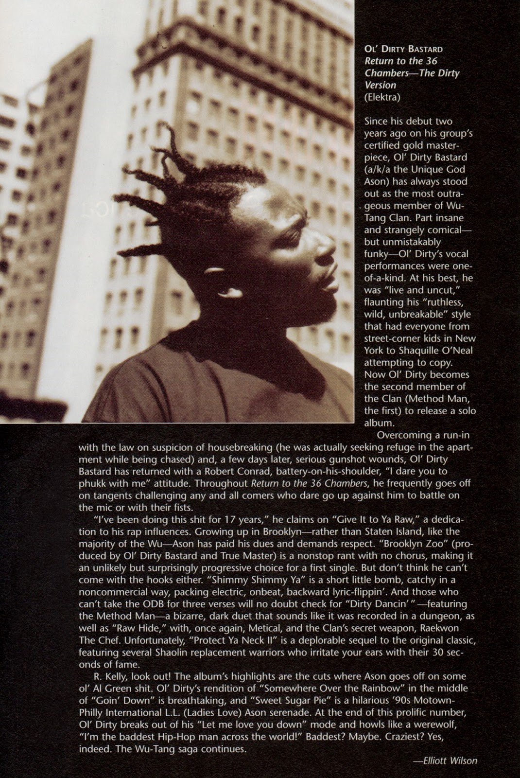 Ol' Dirty Bastard Return to the 36 Chambers Rap Pages May 1995