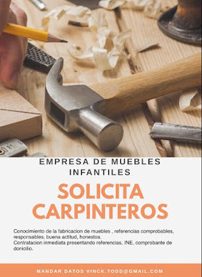 Solicitud de personal : Carpinteros para México