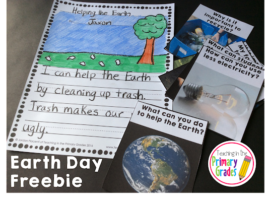 Earth Day Ideas + Writing Prompt Freebie