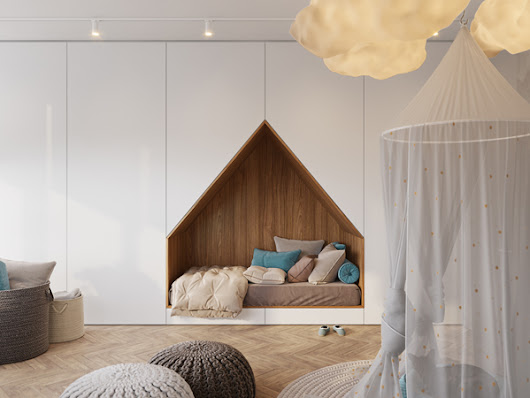 Cozy And Stylish Kids Room With Built-In Beds - Jamboe Desing