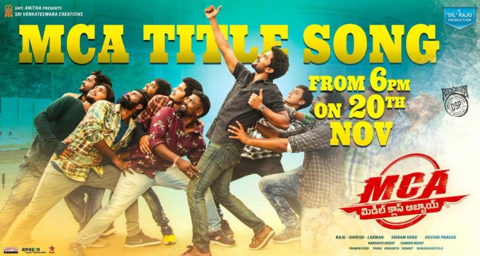 Lyric song title by lyrics : MCA Title Song Lyrics – Middle Class Abbayi (2017) | Nani, Sai ...