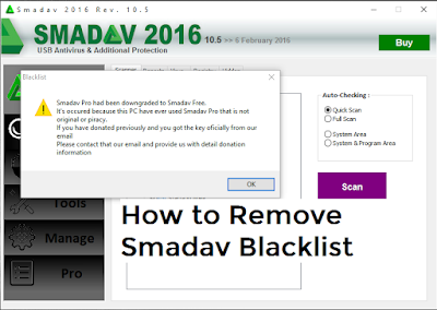 How To Remove or Fix Smadav Blacklist