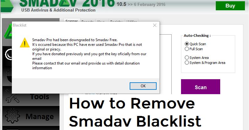 How To Remove Smadav Blacklist | PinoyTechSaga