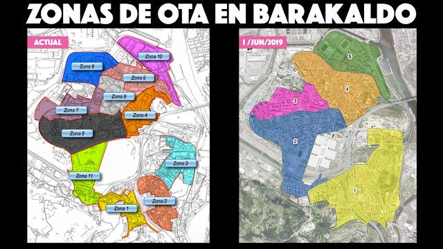 Cambio en las zonas de OTA