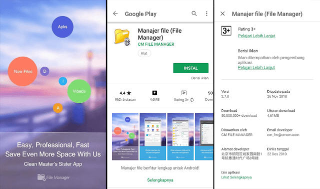 Aplikasi Pengatur File Khusus Android