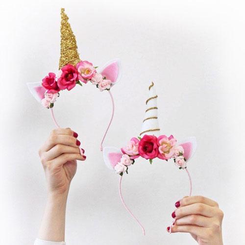 Diademas para disfraces de unicornio