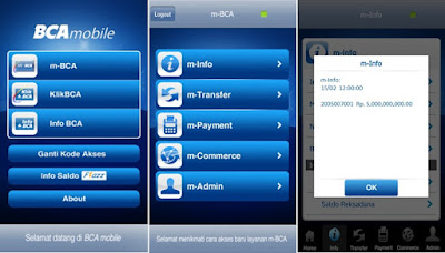 Transfer via Mobile Banking Rekening Bank BCA