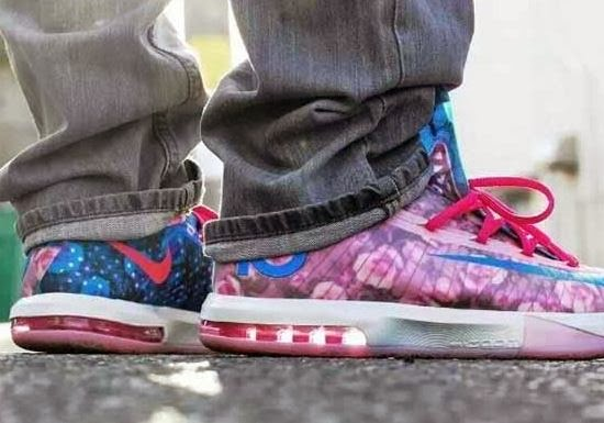 "innovative design 50b7f 4a756 2014 Nike KD VI 6 ""Aunt Pearl"" Sneaker (On-Feet Images)"