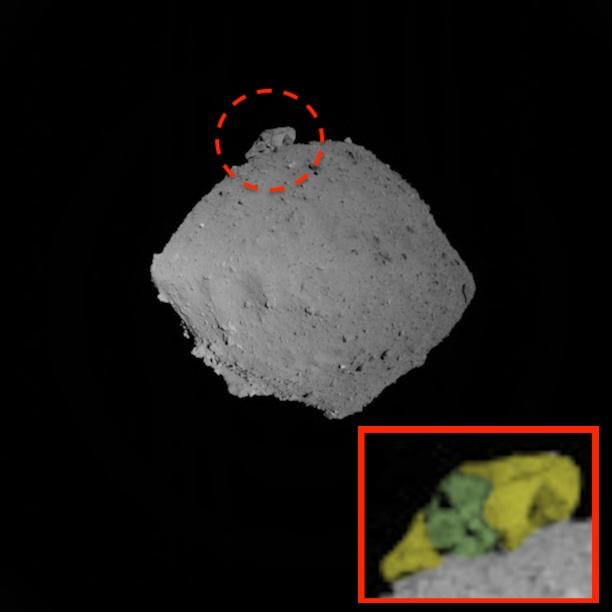Khuôn mặt người ngoài hành tinh được tìm thấy trên tiểu hành tinh Ryugu bằng thăm dò Nhật Bản