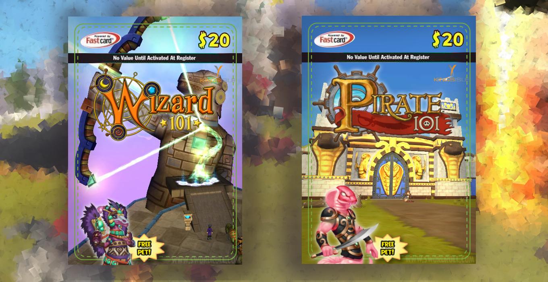 Wizard101 Azteca Giftcard Pirate101 Aquila Giftcard Swordrolls