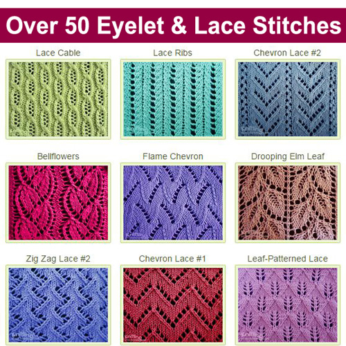 Over 50 Eyelet & Lace Stitches