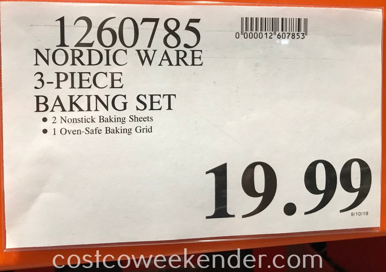 Deal for 3-piece Nordic Ware Nonstick Aluminum Baking Sheet set at Costco