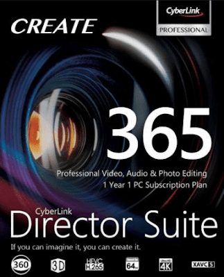 Di dalamnya terdapat software Video Editing CyberLink Director Suite 365 v7.0 Full Version
