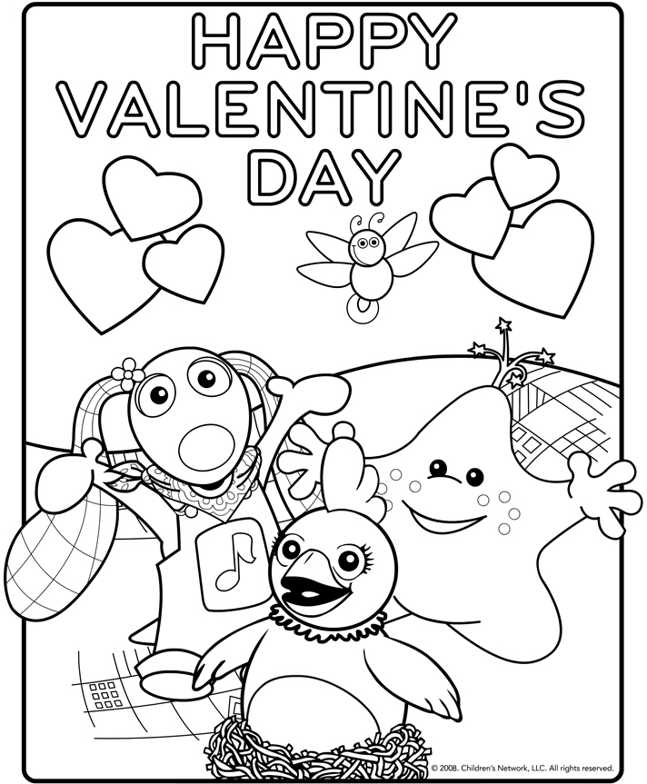 coloring pages valentinesday - photo#14